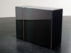 Dean Baird and Karryn Irwin's segment of a mild steel and Formply reception counter.