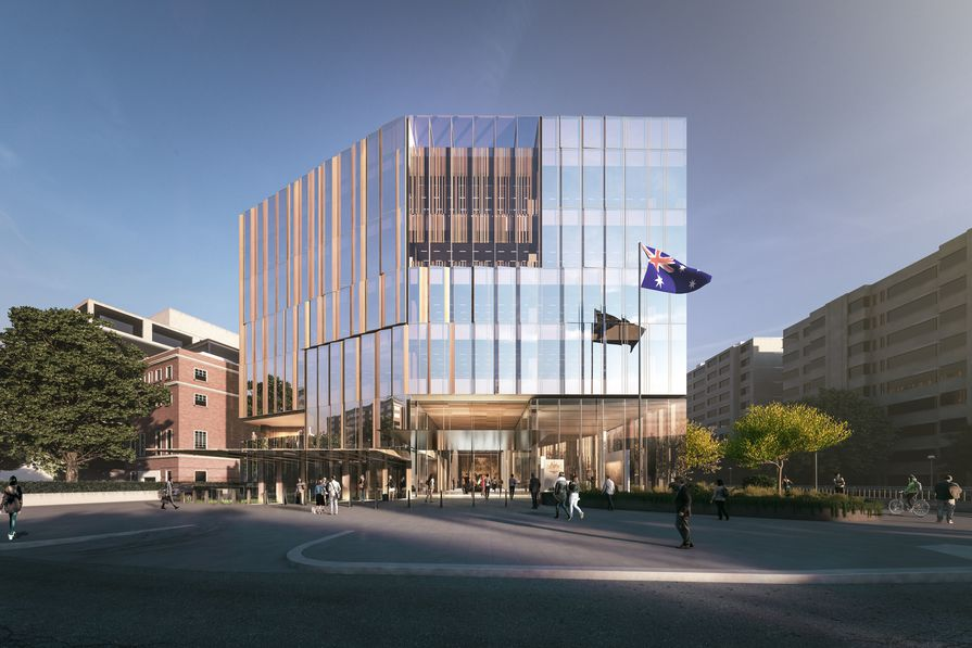 Proposed Australian embassy building in Washington DC, USA, by Bates Smart.