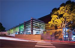 "The Life Centre at Syndal Baptist Church, on the site of a former petrol station in suburban Melbourne, is designed to create a strong visual presence for the church and its outreach programs, without overtly reading as ""church"". At night, coloured lighting aims to give the building a distinctive identity in the community."