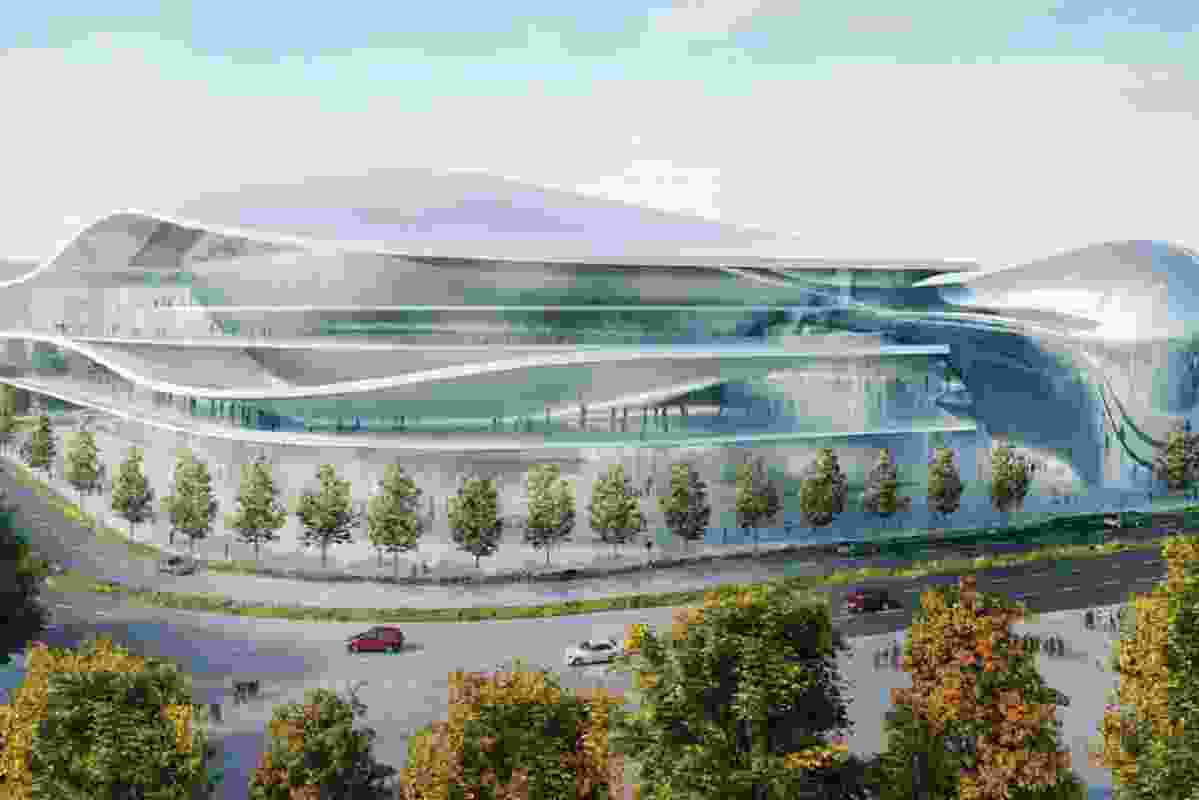 Conceptual design for Canberra Convention Centre by Guida Moseley Brown Architects and Massimiliano Fuksas.