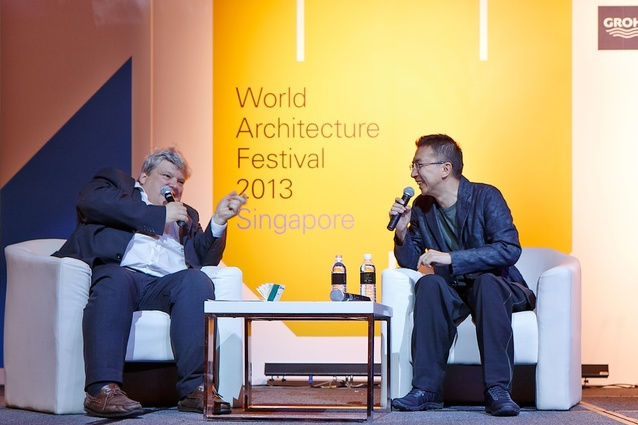 Jeremy Melville in conversation with Sou Fujimoto.