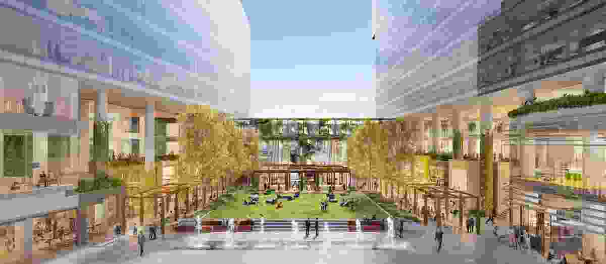 The development of the site will result in a new public space on Collins Street called Melbourne Square designed by Aspect Oculus.