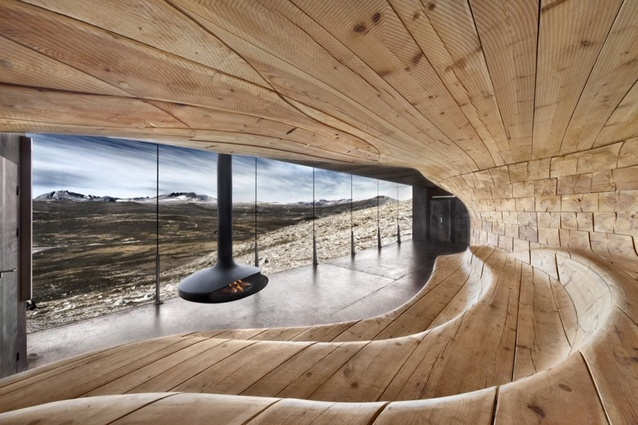 The Norwegian Wild Reindeer Centre Pavilion by Snøhetta.