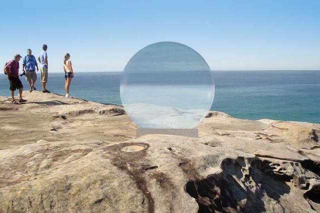 Work in progress: Lucy Humphrey <em>Horizon</em> for 2013 <em>Sculpture by the Sea,</em> Bondi.