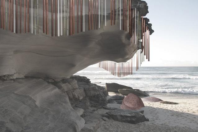 Lucy Humphrey <em>Chime & Coil,</em> a concept  (unbuilt) for 2011 <em>Sculpture by the Sea,</em> Bondi.