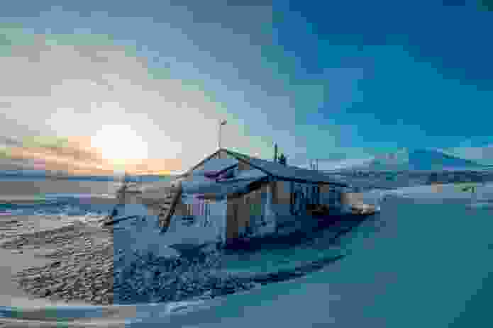 Scott's historic hut at Cape Evans, Ross Island.