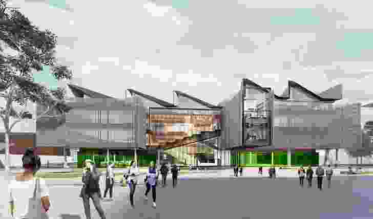 The proposed Learning and Teaching Building at Monash University's Clayton campus, designed by John Wardle Architects.