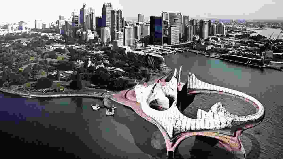 Caught Unawares (1993) in Sydney by Minifie van Schaik. Digital reconstruction by Ben Juckes.
