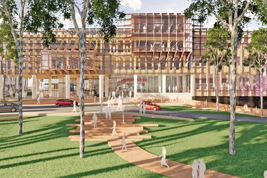 The proposed STEMM building at the University of Newcastle by Lyons and EJE Architecture.