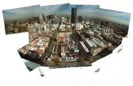 Aerial view of the QV site under construction.