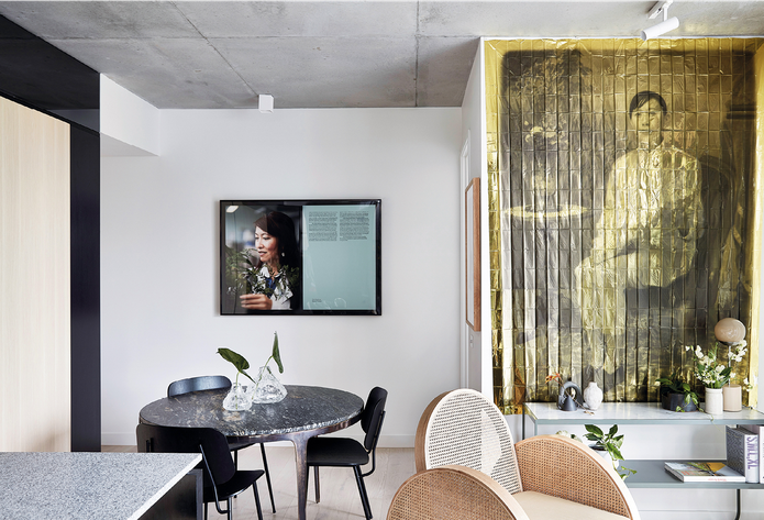 Subtle changes to the apartment floor plans mean that many of the spaces are bespoke. Artworks: Eugenia Lim.