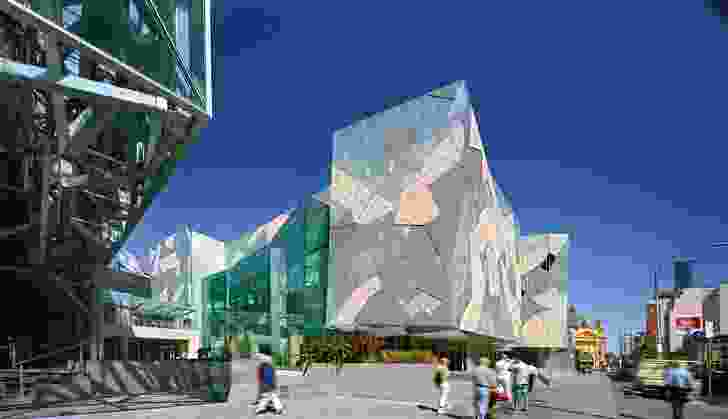 The buildings of Fed Square offer an understated backdrop for community activities; the square's many pathways recall Melbourne's distinctive laneways.