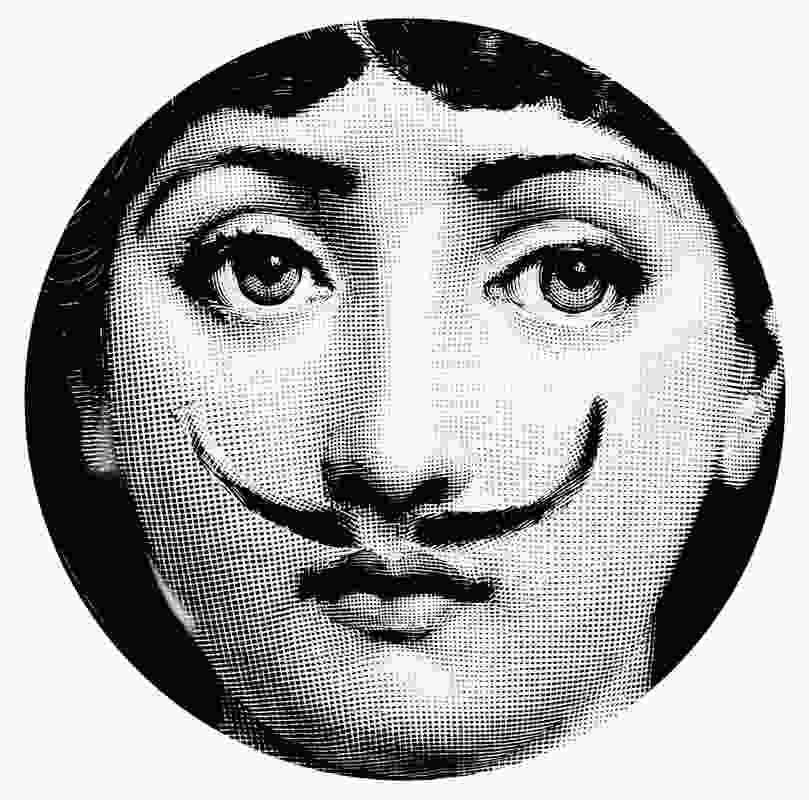 A plate designed by Barnaba Fornasetti.