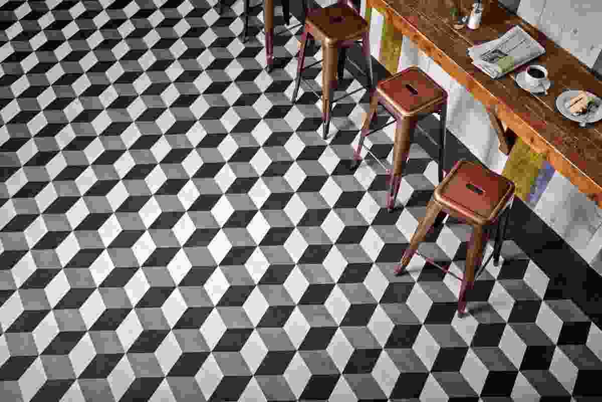 Karndean Kaleidoscope cubes design.