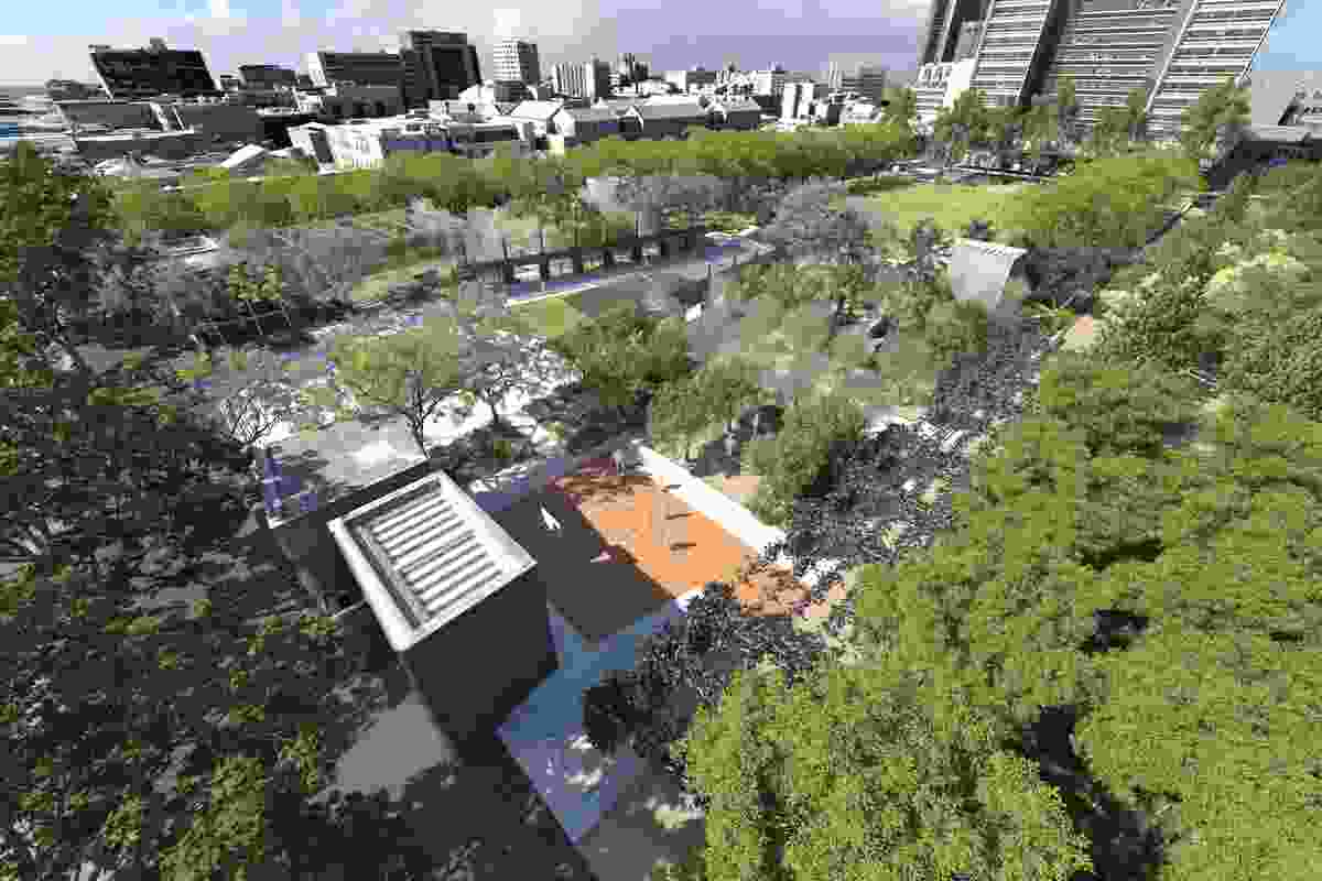 This University Square proposal forms part of the City of Melbourne's $15 million plan to convert underused roads into green spaces.