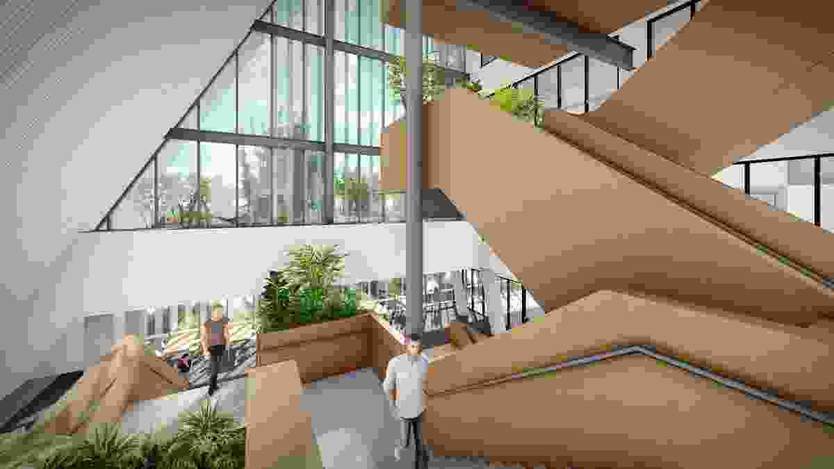 拟议的查尔斯达尔文大学教育和社区通过模式。