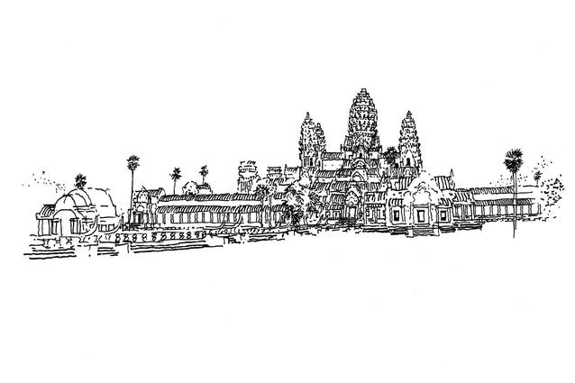 Ken Woolley <em>Angkor Wat, Siem Reap, 2005.</em>