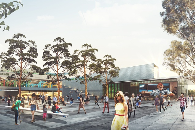 K2K proposal – Arts Quarter at UNSW and NIDA by Aspect Studios Urban Design and Landscape Architecture, SJB Architects and Urban Design, Terroir Architecture and Urban Planning and SGS Economics and Planning.