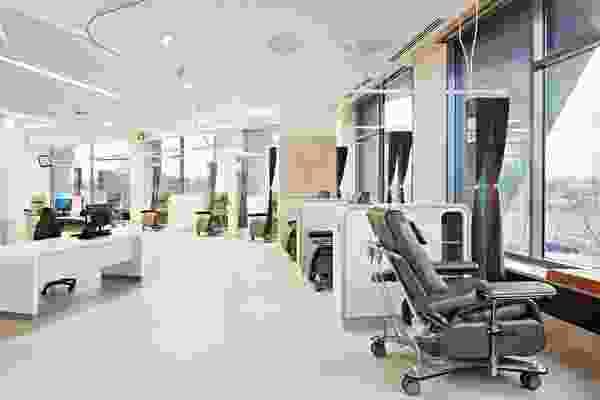 Inside the Albury Wodonga Regional Cancer Centre designed by Billard Leece Partnership.