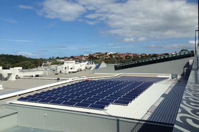 The photovoltaic solar panels on top of Shellharbour Shopping Centre in Wollongong will produce an average of 4,789 kilowatt hours per day.