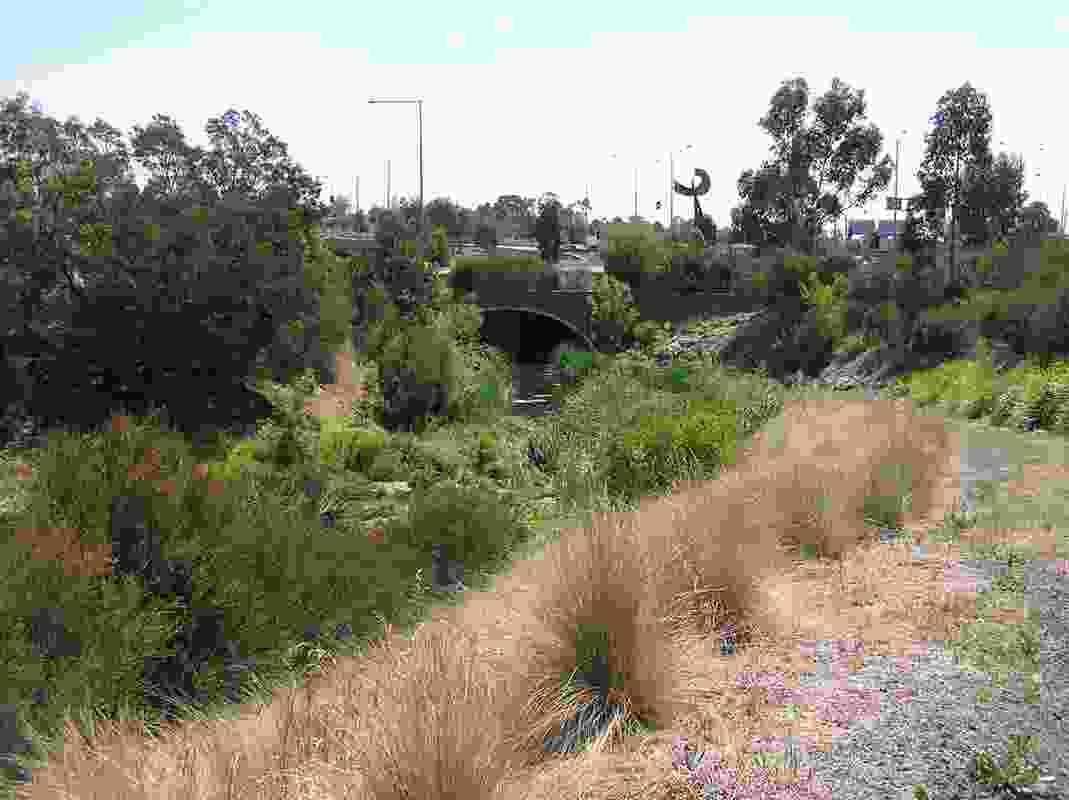 Eastern Freeway creek restoration.