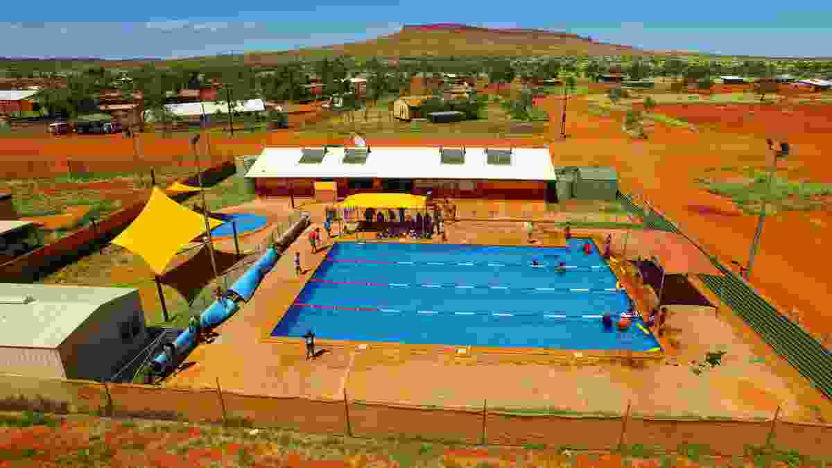 Kintore (Walungurru) Pool provides a welcoming way to cool off in this remote, largely Indigenous settlement approximately 530 kilometres west of Alice Springs in the Northern Territory.