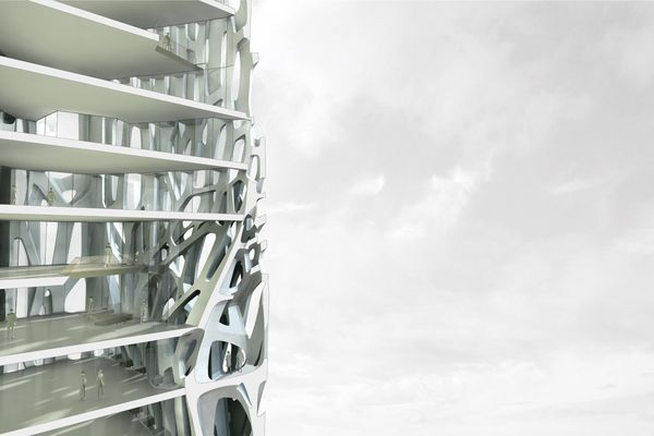 FIbrous tower is a series of studies that explores ornamental, structural and spatial order.