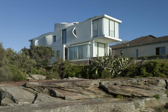 Chris Elliott Architects' Seacliff House, which represents the present in Elliott's exhibit.