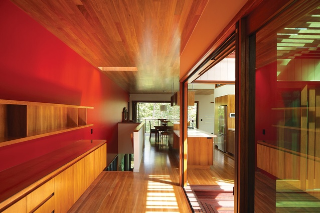 St Lucia House 2 (2013): The living spaces can be opened up to engage with the local bushland.