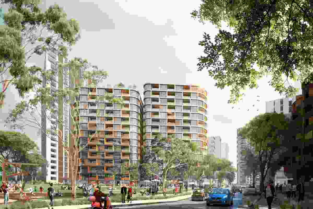 Ivanhoe Estate redevelopment designed by  Hassell, Bates Smart, Candalepas Associates, Cox Architecture and Turner.