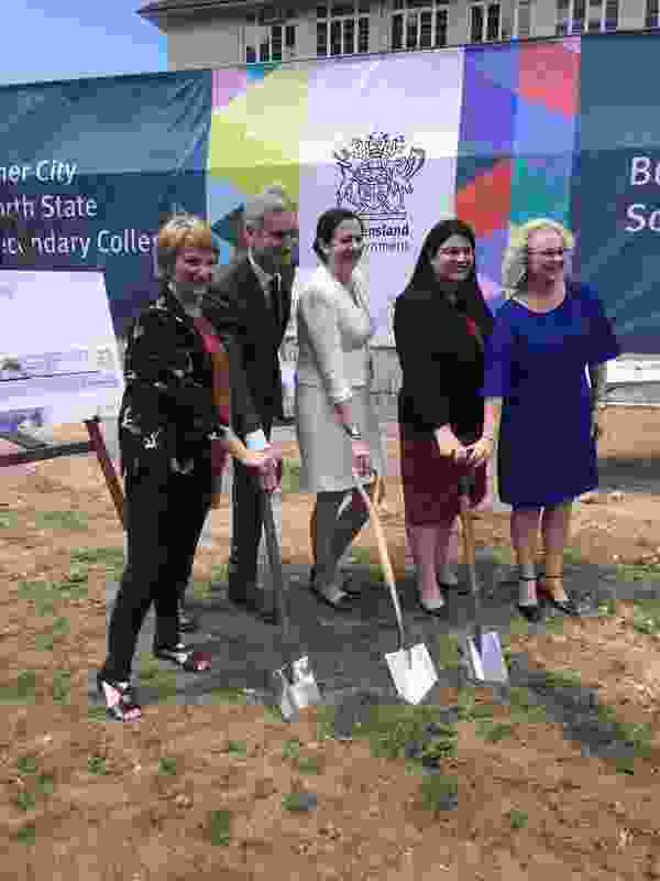 Premier Annastacia Palaszczuk and education minister Grace Grace at the sod-turning ceremony.