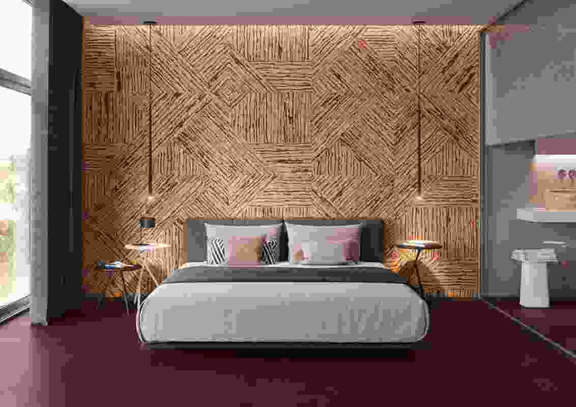 3D Cork tiles can be mixed and matched to create a chaotic combination of zig-zag patterns.