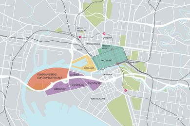 Map of Fishermans Bend.