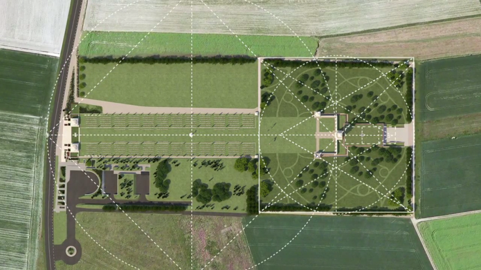 The design of the proposed centre is governed by the geometry set out by Edwin Lutyens in the original memorial.