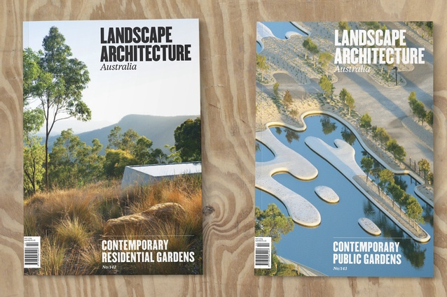 <i>Landscape Architecture Australia</i> issues 142 and 143.