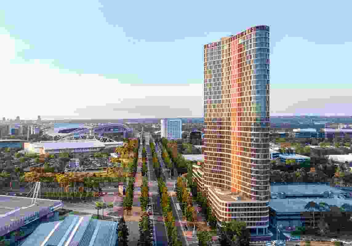Boomerang Tower by Bates Smart.