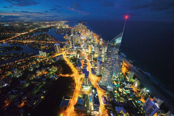Hugging fifty-seven kilometres of coastline, the Gold Coast is Australia's sixth-largest city, with a population of approximately six hundred thousand people.