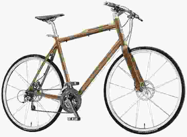 LED lights are integrated into the frame of Giant's City Speed bicycle.