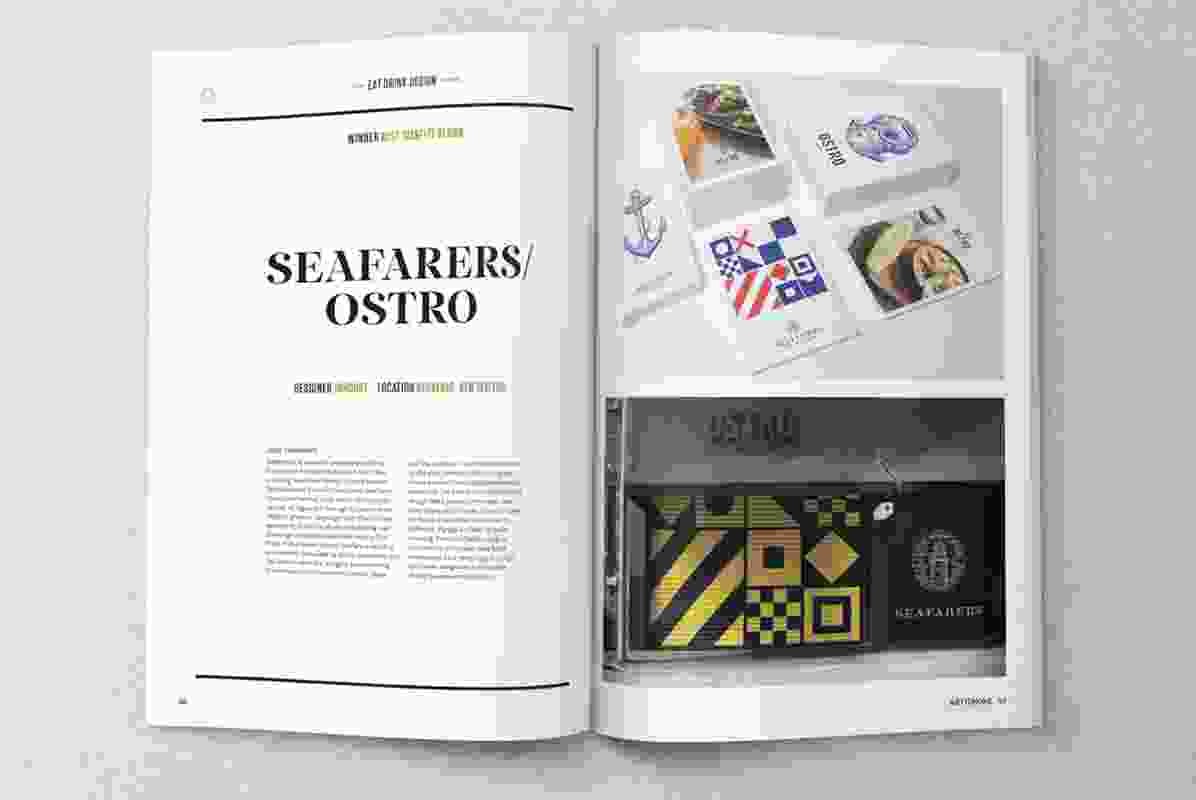 Seafarers/Ostro by Inhouse, winner of the Best Identity Design category at the 2014 Eat Drink Design Awards.