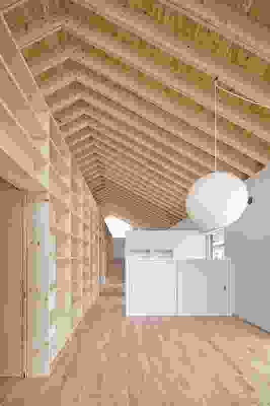 Interior of Facet Studio's M House, Niigata, Japan.
