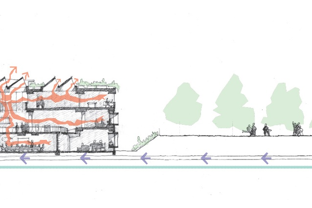 Sectional sketch.