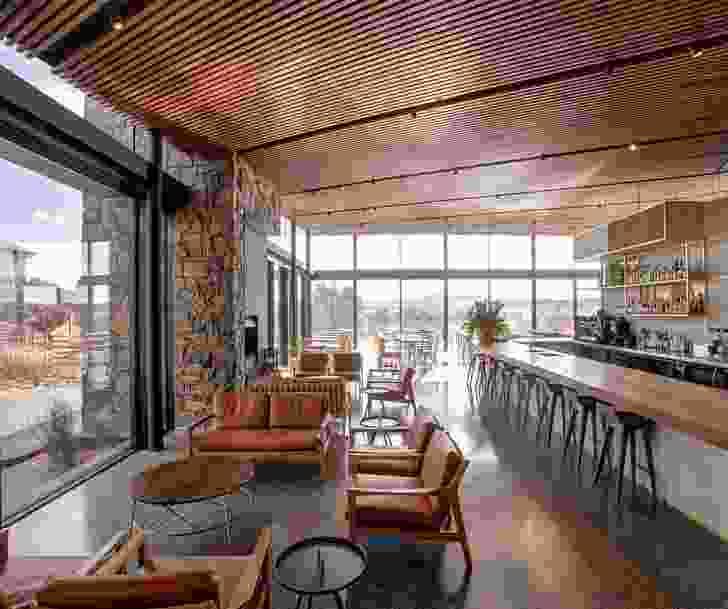Glasshouse at Goonoo Goonoo Station by Tanner Denton Kibble Architects.