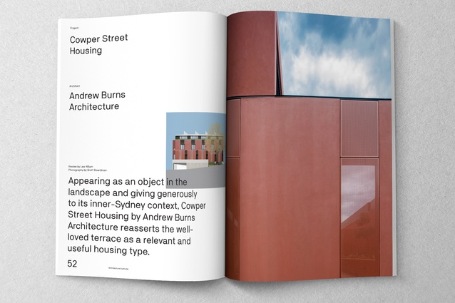 Cowper Street Housing designed by Andrew Burns Architecture.