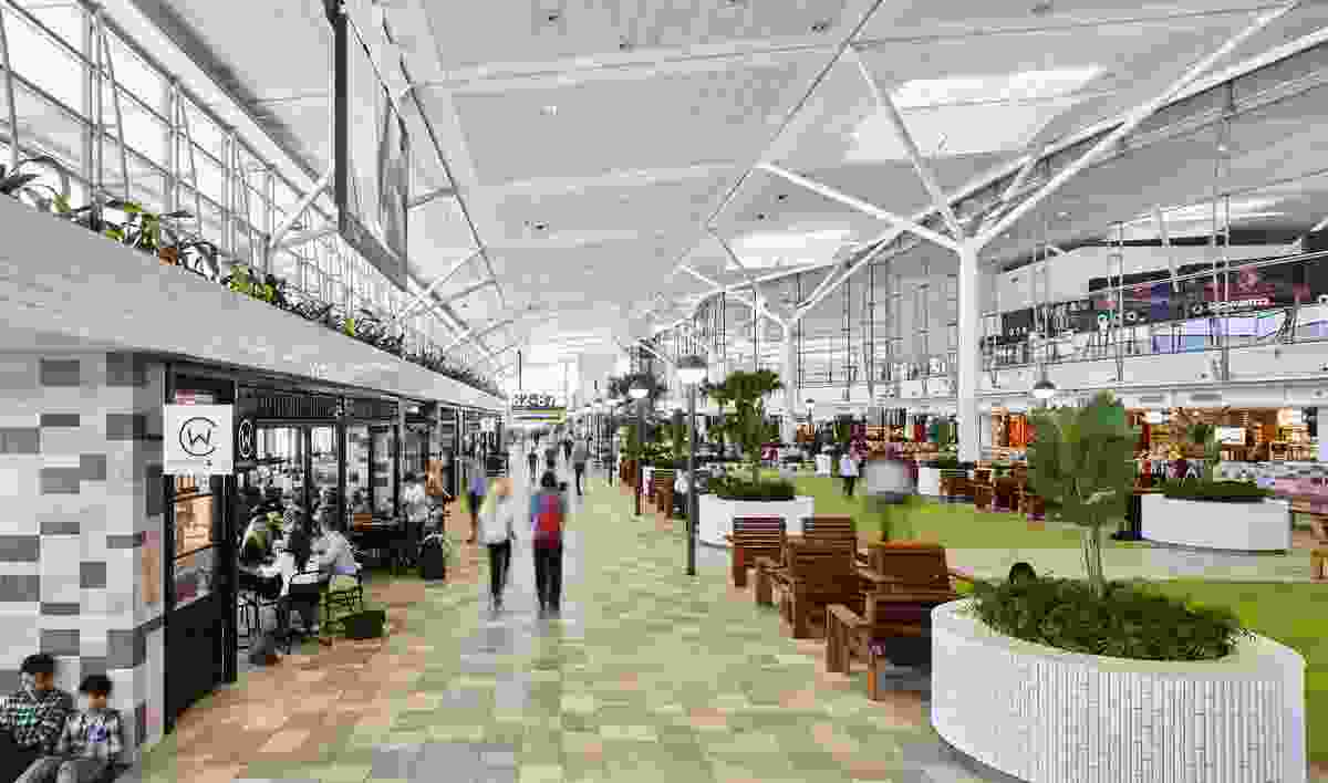 Brisbane International Airport Retail Upgrade by Arkhefield and Richards and Spence in Collaboration.