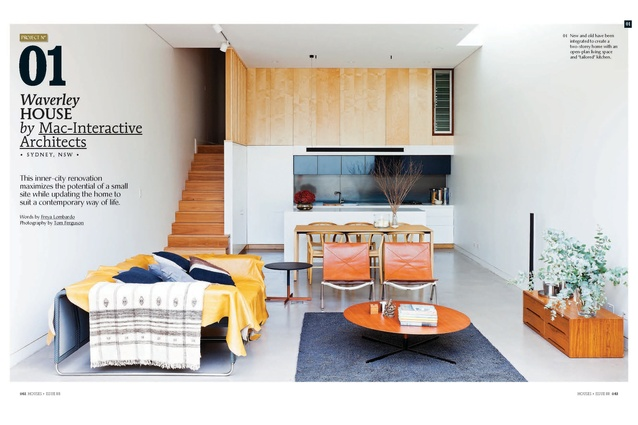 A preview from the magazine: Waverley House by Mac-Interactive Architects.
