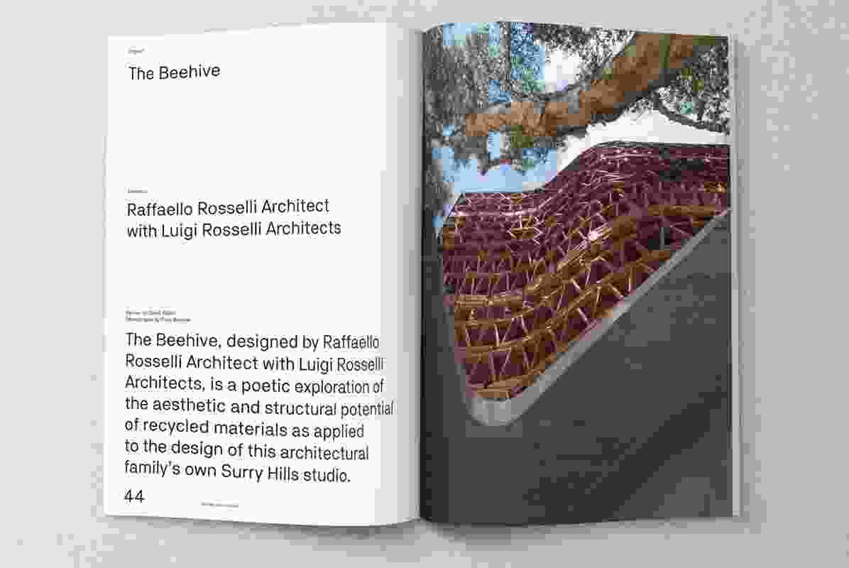 The Beehive designed by Raffaello Rosselli Architect with Luigi Rosselli Architects.