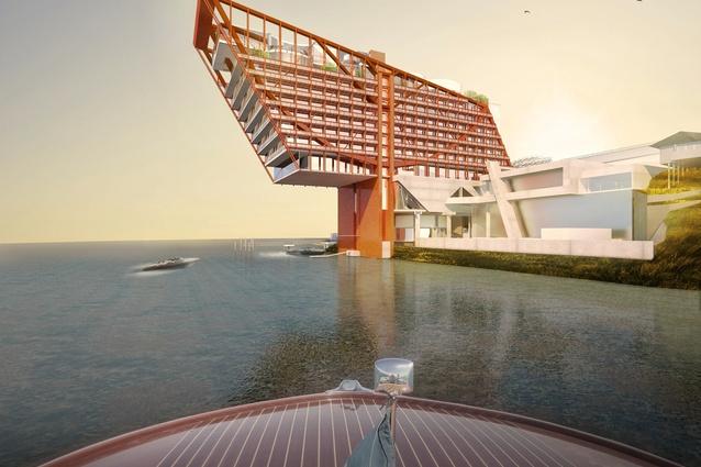 The MONA Hotel, HOMO, designed by Fender Katsalidis Architects.