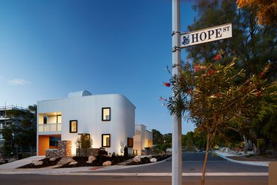 The Gen Y Demonstration Housing Project in Perth, designed by David Barr Architect, is intended to give would-be Gen Y home buyers a step onto the property ladder. Appearing as a single dwelling, it is in fact made up of three one-bedroom apartments with access to a communal garden area.
