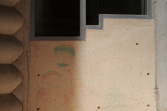 Signs of ownership of Flores & Prats Building 111 by its younger residents.