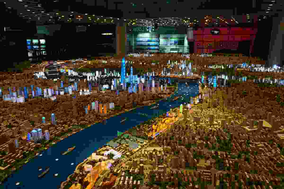 A 1:500 scale model of Shanghai.